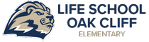 Logotipo de las escuelas primarias de Life Oak Cliff Retina