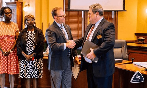 Life School Recognized During Ellis County Commissioners Court