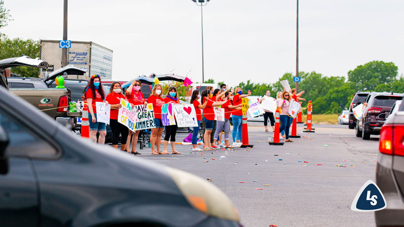 LSRO Teachers Host Drive-Through Student Summer Send-Off