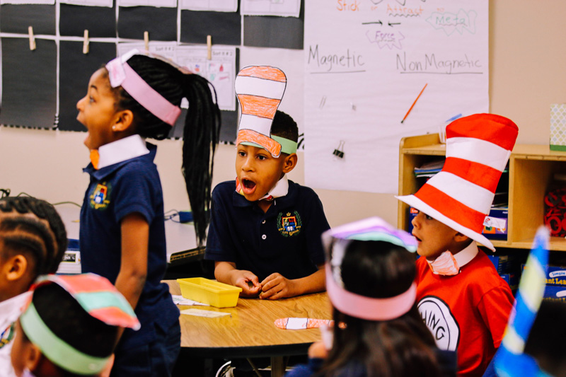 Students on Dr Seuss Day 2