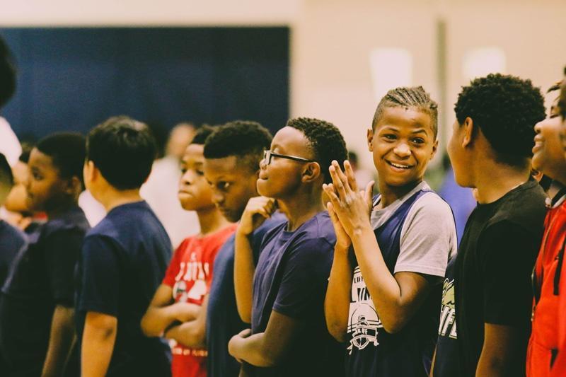 Kids in Gymnasium